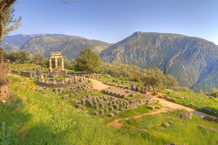 The tholos of the sanctuary of Athena Pronaia at Delphi, Greece