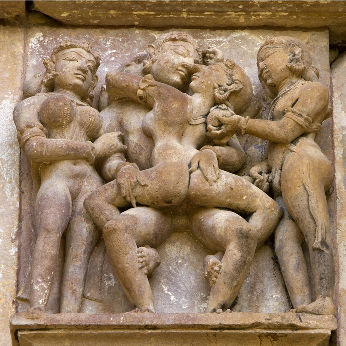 Temples of Khajuraho, famous for their erotic sculptures