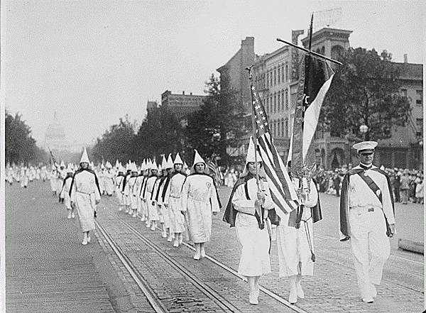 March of Ku Klux Klan members, Washington D.C. 1928