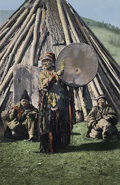 Altay Shaman with drum.